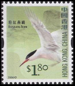 Hong Kong 3rd Definitive Birds Roseate Tern 粉紅燕鷗 $1.80 single MNH 2006