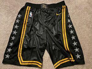 NWT NIKE Lakers City Shorts SIZE XL Swingman Kobe Black Mamba LA 2020 CHAMPIONS