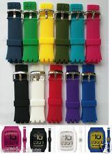24mm Rubber silicon strap bracelet band (FITS) SWATCH TOUCH surb100,surw100,etc