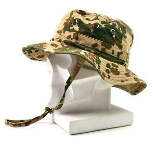 Genuine ORIGINAL GERMAN ARMY BOONIE HAT Desert field tactical military cap men's