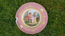 An Antique Pink Porcelain Plate Sevres