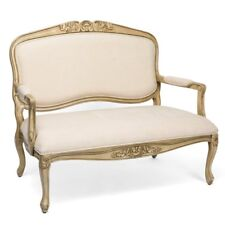 NEW STUNNING FRENCH HAND CARVED WOOD UPHOLSTERED SETTEE BENCH
