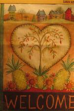 """Toland Garden Art Flag 12.5 x 18"""" 118020 """"Welcome Heart"""" Weather Proof Nip"""