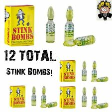 12 VIALS OF STINK BOMBS ass stinky fun fart liquid poop