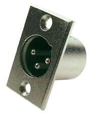 Cannon XLR 3 poli Maschio Spina da Pannello, verticale, in Metallo - 137364