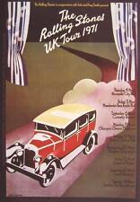 """ROLLING STONES AUFKLEBER / STICKER # 16 """"UK TOUR 1971"""" -PVC WETTERFEST"""
