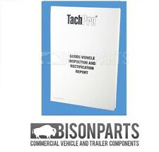 * HGV / TRUCK TACHPRO GOODS VEHICLE INSPECTION & MAINTENANCE PAD - 100209
