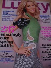 february 2012 Lucky magazine Elizabeth Banks cover