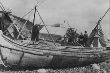 619048 Birch Bark Freight Canoe Mackenzie River NWT 42083 A4 Photo Print