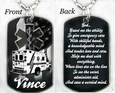 PARAMEDIC'S PRAYER - Dog tag Necklace/Key chain + FREE ENGRAVING