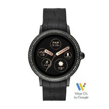 Marc Jacobs Women's Riley Stainless Steel and Silicone Smartwatch, Color: Black