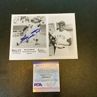 Willie Mays New York Giants Signed Autographed Photo With PSA DNA COA