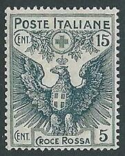 1915-16 REGNO PRO CROCE ROSSA 15+5 CENT MH * - G189-2