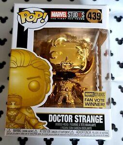 Funko Pop Marvel 439 Doctor Strange Gold Chrome Movie Vinyl Figure Avengers