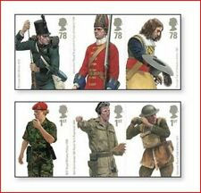 GBR0715 English Army Uniforms 6 stamps