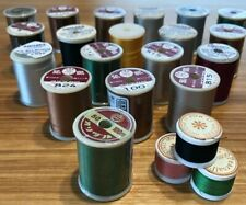 20 Spools of Silk Fly Rod Building Thread, Fly Tying, Many Nip