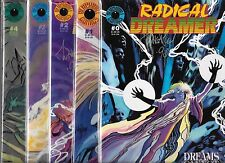 RADICAL DREAMER #0-#4 SET (NM-) #0 & #2 ARE SIGNED ON COVERS BY MARK WHEATLY