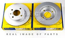 2X FRONT AXLE BRAKE DISCS FOR FORD FIESTA Mk III (GFJ) 1.6 XR2i COMLINE ADC0440V