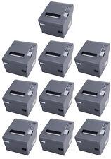 (Lot of 10) Epson TM-T88IV POS Thermal Printer, Dark Grey, USB Interface