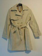 Richi Girls Trench Coat Age 8 to 10 Beige Double Breasted Cotton New