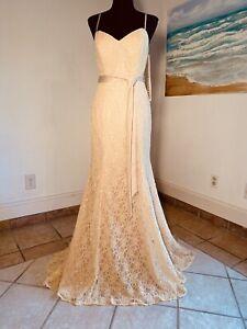 Mori Lee By Madeline Gardner Size 12 Champagne Formal Dress