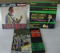 Lote 3 EP vinilo Antonio machin  vintage discos