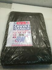 King Canvas Tarpaulin w/ Gromments 12oz/18oz Heavy Duty Canvas Tarp 12'x12' (B6)