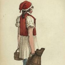 Beer Bier merchant c.1820 wonderful miniature hand color aquatint print