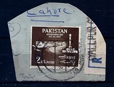 PAKISTAN, SG116a,on piece,ERROR,GREEN AND PINK OMITTED,NOT INDIA