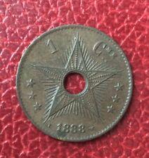 Etat Indépendant du Congo - Congo Belge - Très Joli  1 Centime 1888