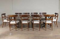 Regency Dining Table and Chair Set - Mahogany Set of 10 Chairs Diner