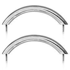 Pair of Stainless Steel Metal Grab Handles for a Caravan / Trailer / Motorhome