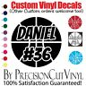 Custom Basketball Vinyl Decal and Name - Car Outdoor Window Team Adhesive Number