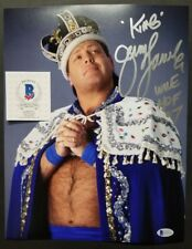 JERRY LAWLER Signed Autographed THE KING TNA WRESTLING 11X14 Photo. BAS BECKETT