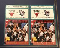 Chicago Bulls Souvenir Tickets 1998