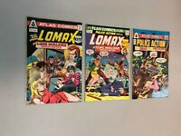 Lomax Police Action 1-3 Complete Set 1 2 3 Atlas Comics 1975