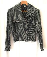 La Bottega di Brumella Pale Petrol Blue /Sage Green Linen Mix Lagenlook jacket