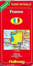 Map of France, by Hallwag, 1995, 1:800,000, Paris, Nantes, Lyon