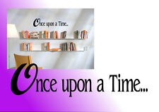 Once upon a time book case/shelf wall decal sticker wall art quote study kids
