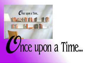 Once upon a time wall decal sticker wall art quote study kids reading corner
