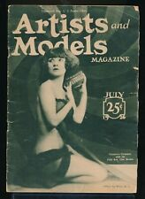 ARTISTS and MODELS Magazine  July 1926 Spicy Nude Figure Art Photos vv
