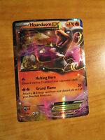 NM Pokemon HOUNDOOM EX Card BREAKTHROUGH Set 21/162 XY X and Y Ultra Rare