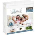 Queen Size SafeRest Premium Hypoallergenic Waterproof Mattress Protector