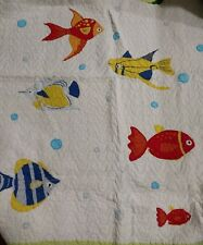 Pem America Kids Fish Bubbles Quilt 78x82 and 2 Standard Pillow Shams