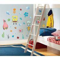 SPONGEBOB SQUAREPANTS wall stickers 45 big decals Squidward Patrick room decor