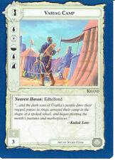 MIDDLE EARTH BLUE BORDER PREMIER RARE CARD VARIAG CAMP