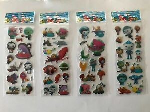 10 x  OCTONAUTS Sticker strips  loot -party bags birthday -gift - girls party