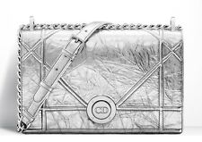 Runway Dior Bag 2016, DIORAMA Crinkled Metallic Lamb Skin Bag