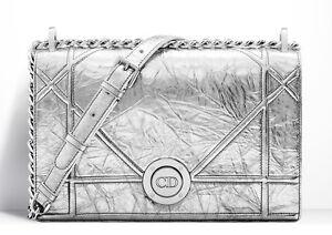 Runway Dior Bag 2016, DIORAMA Crinkled Metallic Lamb Skin Bag