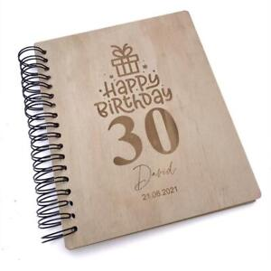 Personalised Large Engraved Wooden Birthday Photo Album Gift WPAL-5